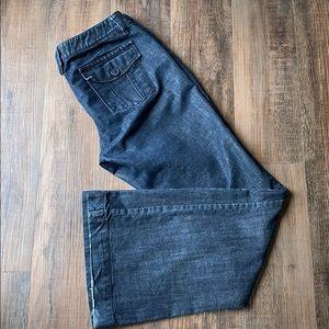 INC dark rinse flare jeans